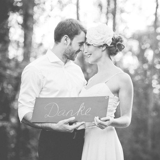 Danksagung vom Brautpaar