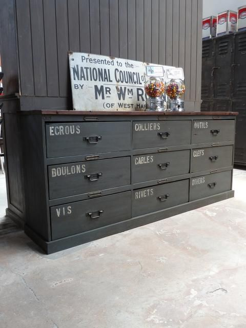 Dressers Vintage Lockers And Industrial On Pinterest
