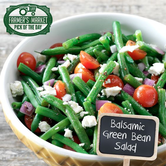 Balsamic Green Bean Salad Recipe from Taste of Home