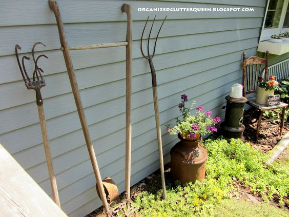 like using old implements in the garden--why leave them in the shed??