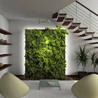 nueva tendencia decorativa jardines verticales interiores ms