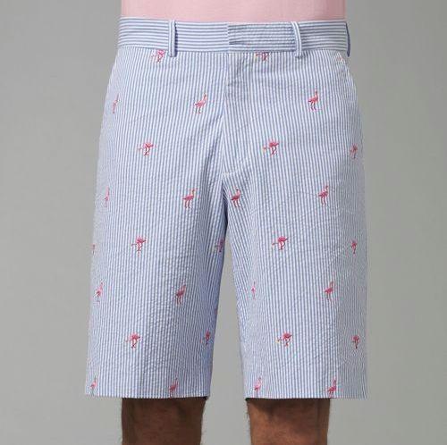 Lilly Pulitzer Everglades Seersucker Shorts | Men's Beach fashion ...