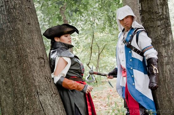 Aveline (Nix Nox Cosplay) with Connor (Nox D Martinez) Assassins Creed III Ron Gejon photography