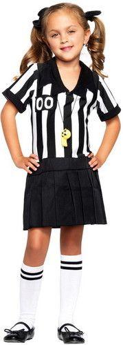 little girls sports referee kids halloween costume - Tough Girl Halloween Costumes