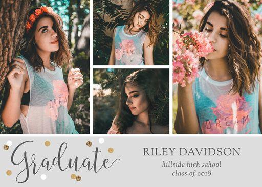 Graduation 2018 Senior Photo Card Announcement 4x8 Printable or Professionally Printed