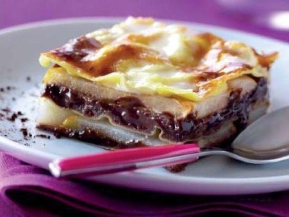Recette Lasagnes... poire chocolat! par Johanne61 - Ptitchef