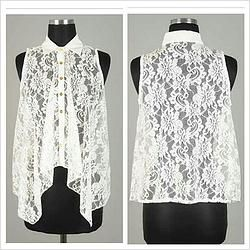 Sexy Floral Lace Blouse