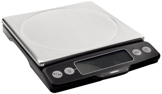 The best way to upgrade your baking (or cooking in general) is a great scale.  This digital scale from OXO is the one I use every night on tour to measure out ingredients for the next night's demo.