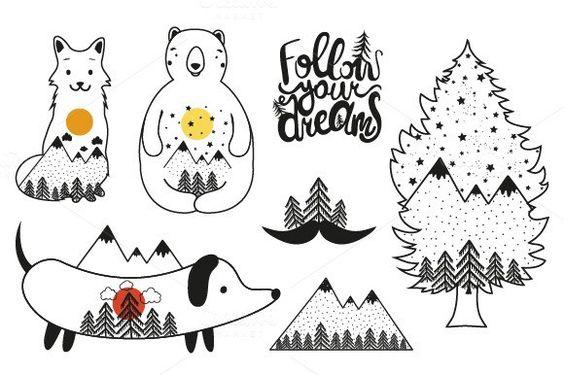 Follow your dreams animal set