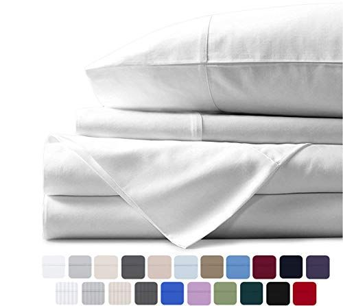 Mayfair Linen 100 Egyptian Cotton Sheets White Queen Sheets Set 800 Thread Count Long Staple Co In 2020 Egyptian Cotton Sheets Cotton Sheets Egyptian Cotton Bedding