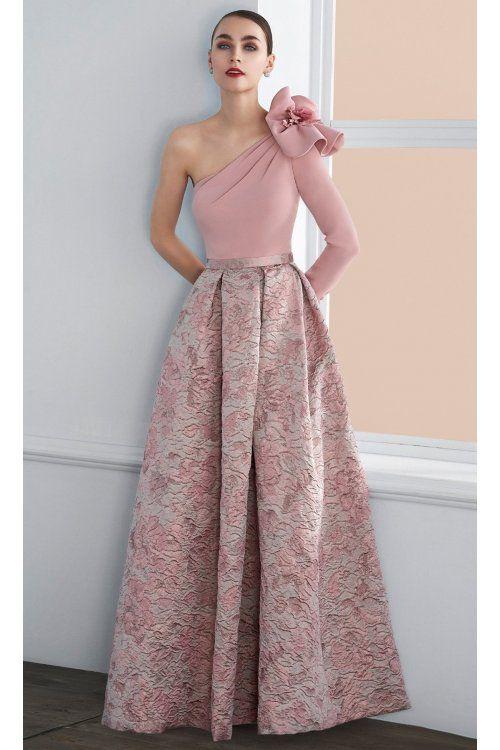 Vestido Angela Ariza Vuelo Brocado Y Crepe En 2019