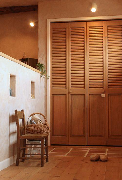 ルーバードア ガラリ戸 についてのあれこれ ルーバードア 木製室内