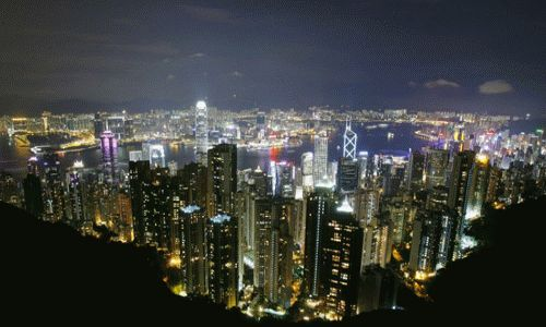 The Peak, Hong Kong - beautiful at night!