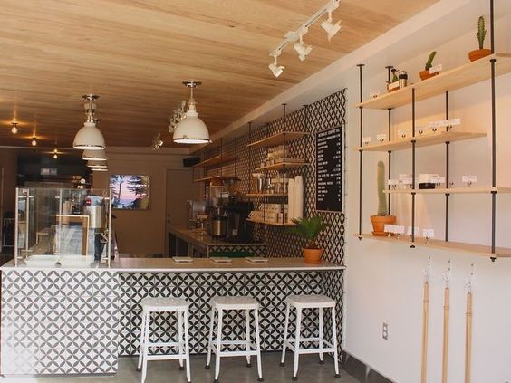 shelves!!! Reveille Coffee Company, San Francisco