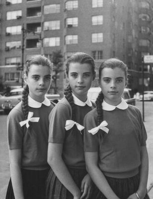 triplets in this case: Hair Cut, Haircut, Triplets Photographed, Vintage Photo, Deen Triplets