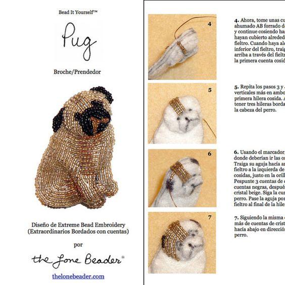 PDF en español: PUG Tutorial de bordado con cuentas del prendedor o ...