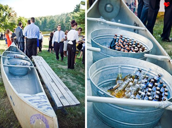 Save some ice. Instead of filling the whole canoe with ice, just fill some tubs.