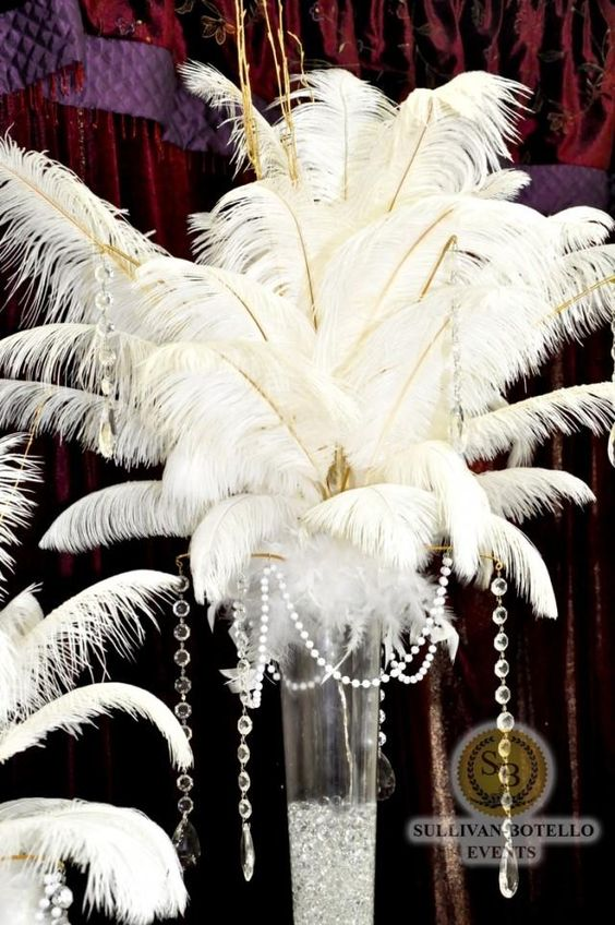 art deco wedding centerpieces | pin-by-white-satin-wedding-show-on-wedding-great-gatsby-art-deco ...
