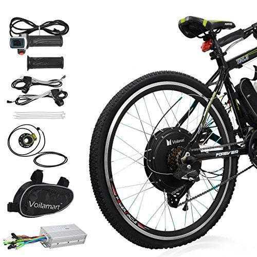 Voilamart Electric Bicycle Kit 26 Rear Wheel 48v 1000w E Bike Conversion Kit Cycling Hub Motor With Pas System For Road Bike Electric Bicycle Kit Electric Bicycle Electric Bicycle Conversion Kit