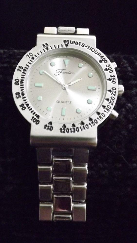 Fondini Men's Watch Silver colored Quartz Swiss parts #Fondini #Fashion
