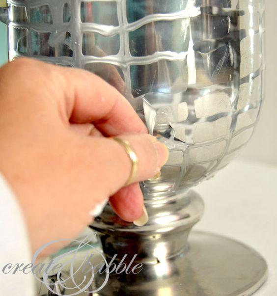Diy Mercury Glass Vase Sprays Vzory A Srdce