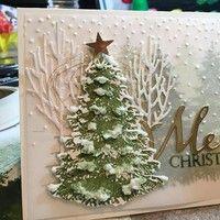 Christmas Tree Metal Cutting Dies Stencil Scrapbooking Embossing Cards DIY Craft