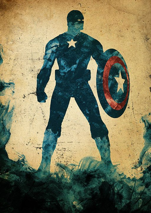 Captain America by moonposter on etsy
