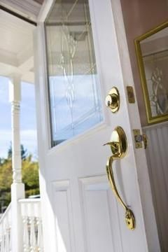 Step by Step #Change the glass in any front door....Or take it out & paint the brass black?
