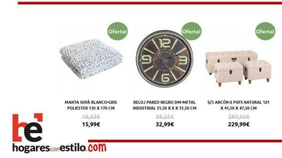 Hoy en #oferta... #home #hogar #estilo #deco #decoración Te esperamos en hogaresconestilo.com