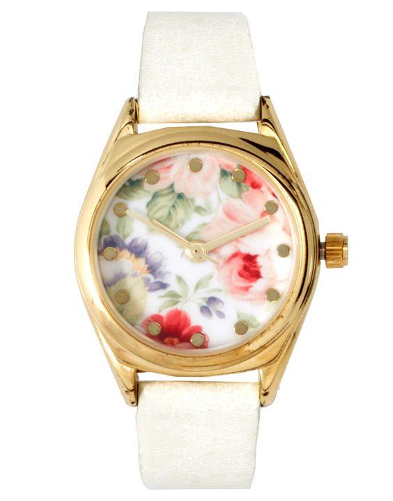 Vintage Floral Watch