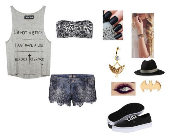 """""""Untitled #255"""" by allynn-murray ❤ liked on Polyvore featuring Lovely Bird, Vans, GUESS and ONLY"""