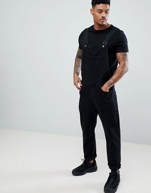 authentic quality new selection 2018 shoes DESIGN skinny denim overalls in black | wardrobe wants in ...