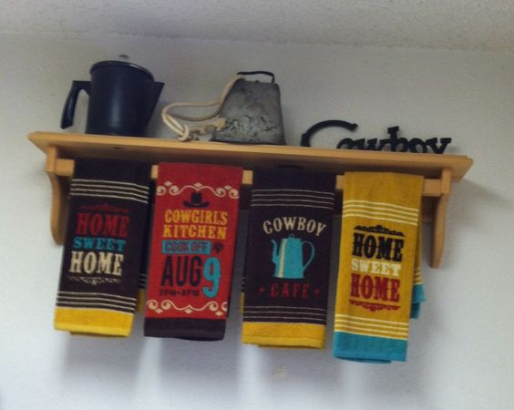 Kitchen Wall group including my Dad's antique cowbell-a family treasure used at all football games where I grew up!