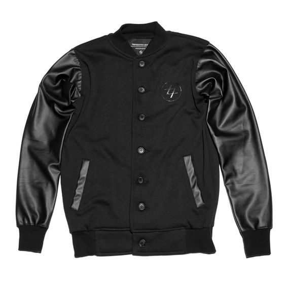 Fleece cotton and leather varsity jacket | IDR 250.000