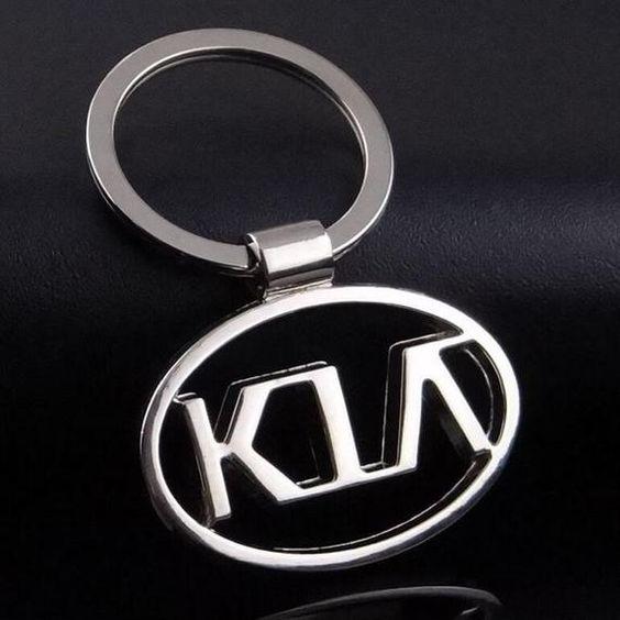 Logo Emblem Key Ring Chain Fob Keyring Keychain Metal Chrome for Kia