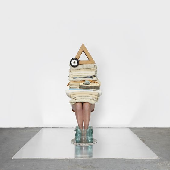 """Bodies, Bauhaus and ballet inspired set designer Anna Lomax's project called """"Body Builder."""" Collaborating with photographer Jess Bonham, the London-based artist balanced props on her model's body,..."""