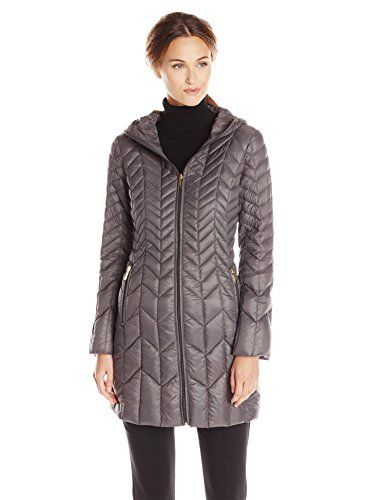 London Fog Women&39s Packable Down Jacket in Rock Grey - http://www