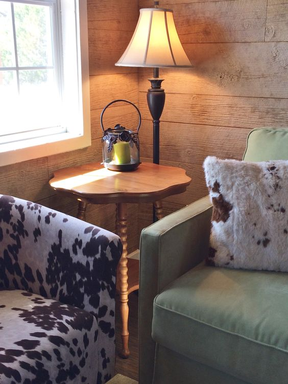 The chair was from Wayfair --- couldn't resist that cowhide look!