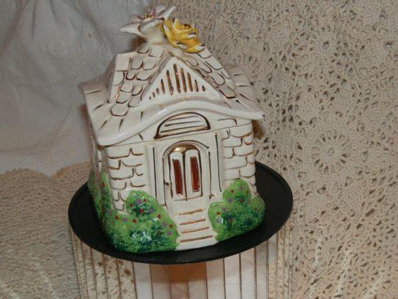 Take 25% Off Cottage Vanity Jar  Harriet by HistoryHouseAntiques