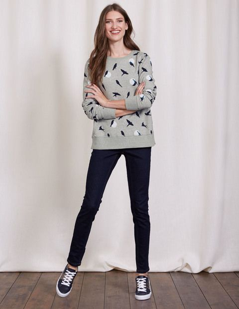 Fun Sweatshirt (Grey Marl Bird Silhouette)