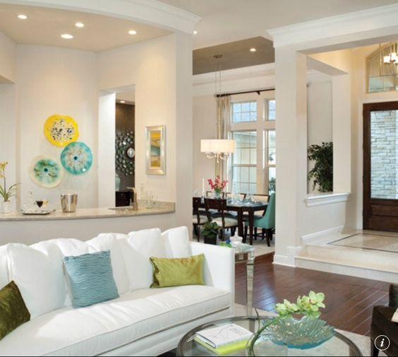 Arthur Rutenberg Homes Custom Home Design Living Area: Sherwin Williams - Shoji White