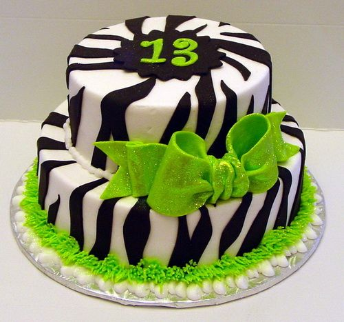 Cake Ideas For 13th Birthday Boy : 13th birthday cakes zebra!!!!!! PERFECT CAKE FOR A 13 YEAR ...