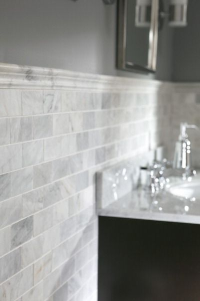 Allen Roth Natural Stones And Subway Tile Backsplash On