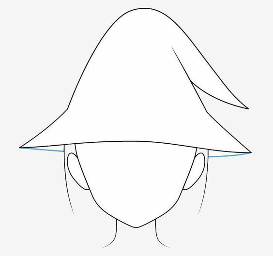 Vẽ phần dưới nón phù thủy anime