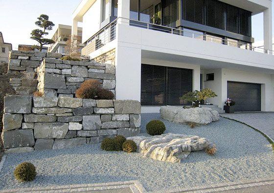 Interesting stonework.  Hauser Gärten AG.