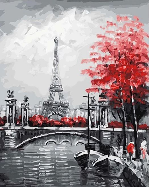 Acrylic Paint By Number Kit Oil Scenery Paint By Numbers Diy Paris