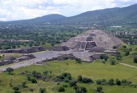 Teotihuacan: Ancient alien theorists have pointed out that some ancient monuments demonstrate a thorough knowledge of astronomy. The Pyramid of the Sun at Mexico's Teotihuacan, for example, lies at the center of a complex of pyramids, each aligned with a planet in the solar system.
