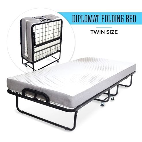Maximize And Save Space With This Amazing Folding Bed Designs Great Folding Bed Van Styles Folding Beds Source More Roll Away Beds Folding Beds Foldable Bed
