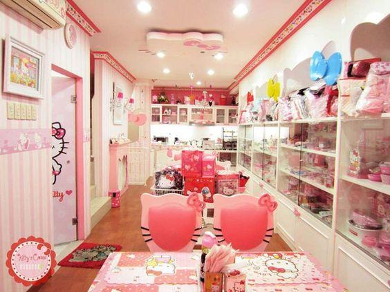 Hello Kitty cafe & shop. OK, I want a Kawaii Craft Room now!!