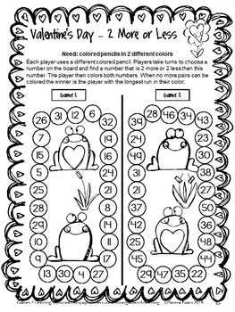 NO PREP Game from Valentine's Day Games First Grade by Games 4 Learning - 14 Printable games $